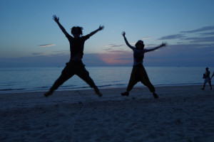 サイリービーチの夕日/世界一周わくわく教室
