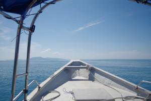 プルフンティアン島へ行く船からの景色