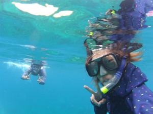 プルフンティアン島でシュノーケリング。SharkPoint/世界一周わくわく教室