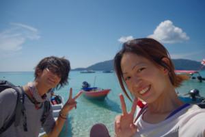 プルフンティアン島で写真撮影