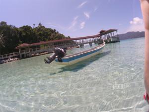 プルフンティアン島でボートを撮影!!影がこんなにくっきり見える!!