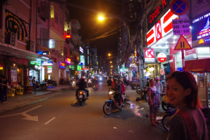 s夜の街を散策