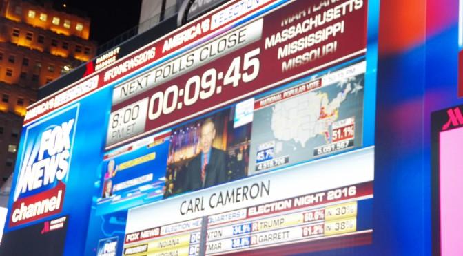 アメリカ横断キャンピングカーの旅・28日目、29日目〜ニューヨーク観光と大統領選挙後編〜