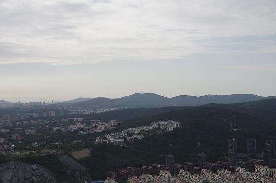 白玉山の塔の上からの景色