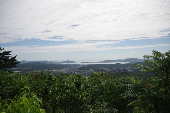 203高地山頂から見た旅順港