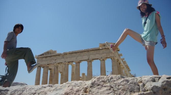 アテネの古代遺跡を観光!!聖闘士星矢で見た景色が広がってましたー♪