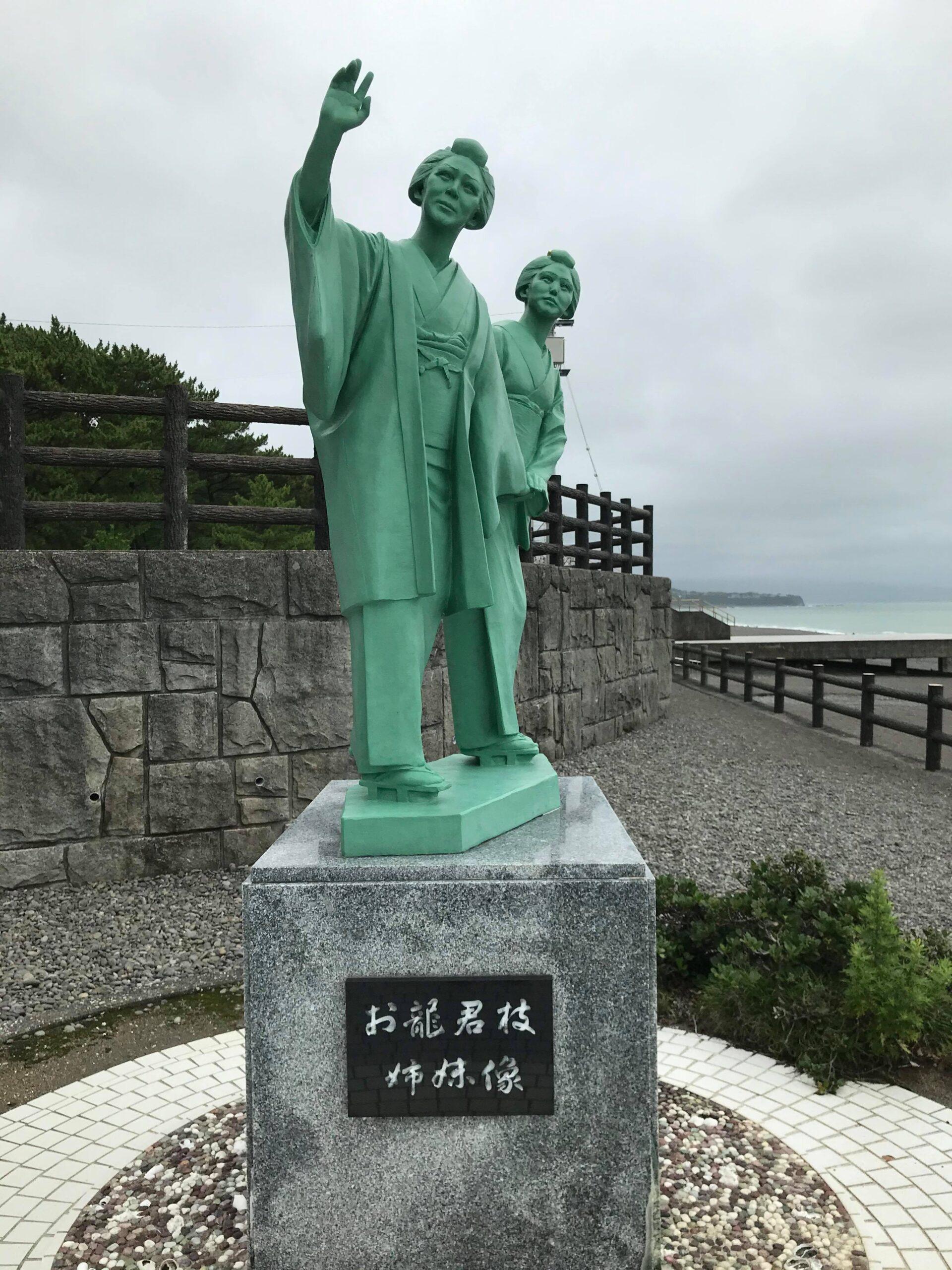 お龍さんの銅像