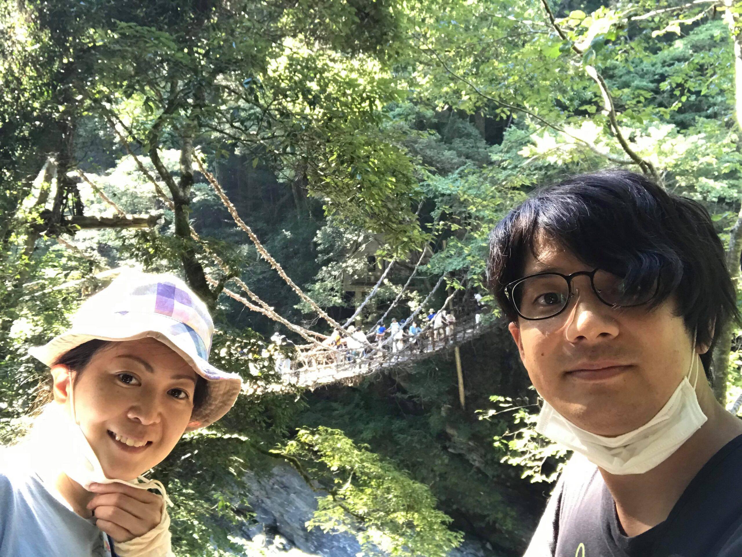 祖谷のかずら橋写真