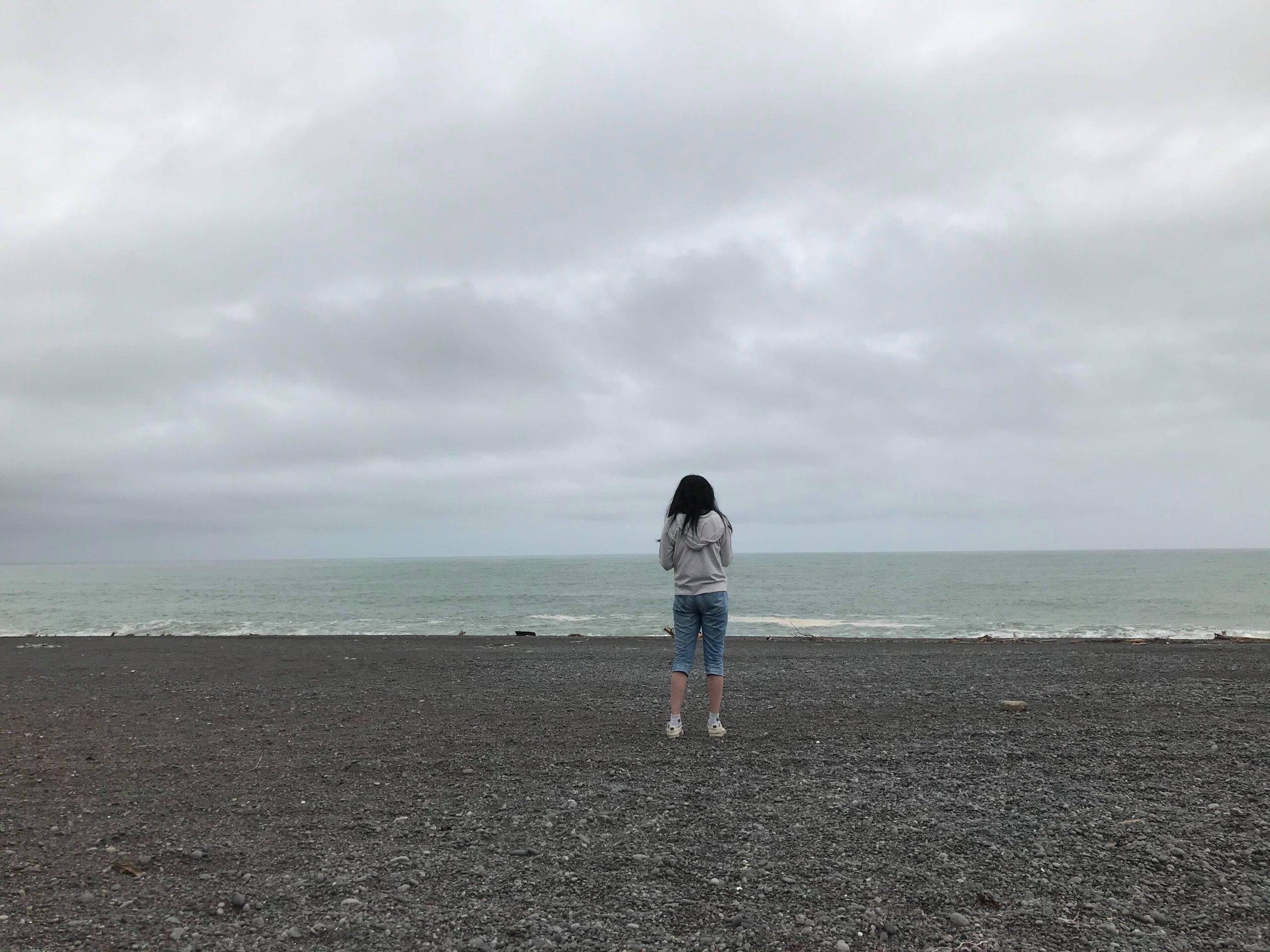 太平洋を見る