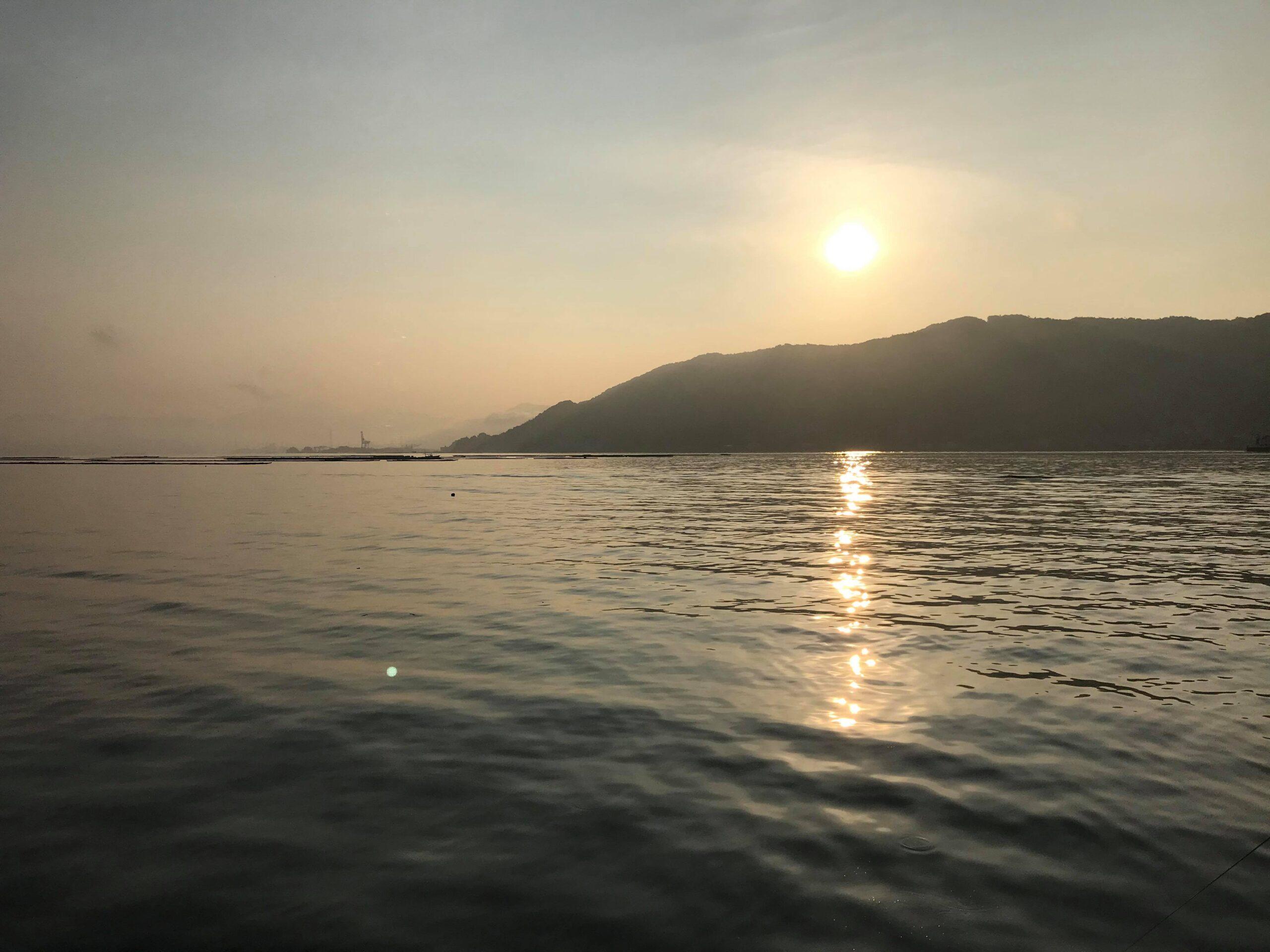 江田島で朝日を見た