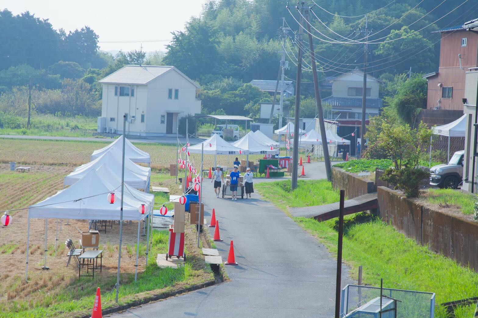 香取神社の夏祭り準備